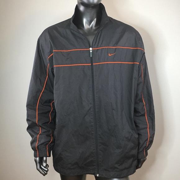 e2ec59473 Nike men's athletic jacket size XL black orange